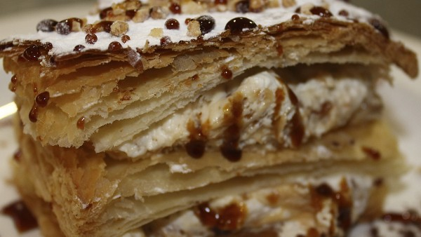 flaky-pastry-filled-with-nougat-mousse-best-seafood-desserts-restaurant-valencia-spain